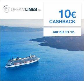 [QIPU] Dreamlines: 3x 10€ Cashback für unverbindliche Buchungsanfrage einer Kreuzfahrt
