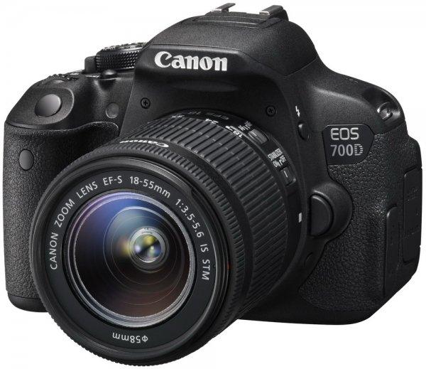 Canon EOS 700D 18.0 MP Digitalkamera - SLR - EF-S 18-55mm IS STM-Objektiv KIT Spiegelreflexkamera für 429,00 € [LOKAL] + Kaufpreis zurück-Chance