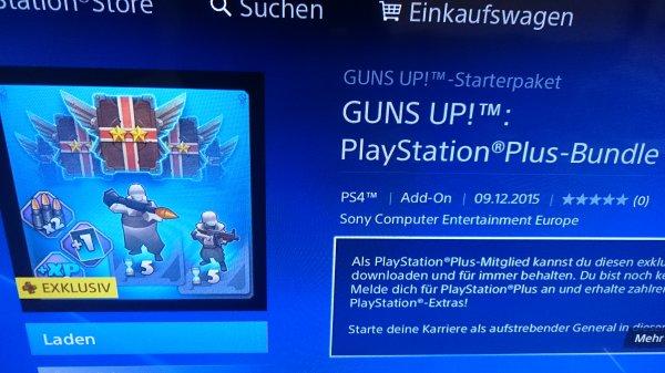 GUNS UP!  Playstation PLUS-Bundle PS4