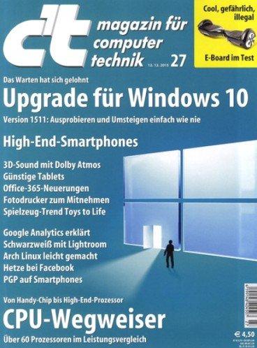 6 Ausgaben c't + Online Archiv für 21,30€ + 5€ Amazon Gutschein und Abus Schloss Cartena 680 (Preisvergleich 21,30€)