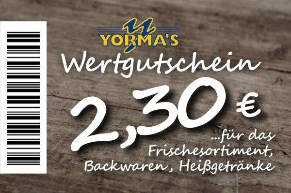 [Yormas Imbissketten bundesweit] Yormas Wertgutscheine mit bis zu 9,09% Rabatt @ yormas.de