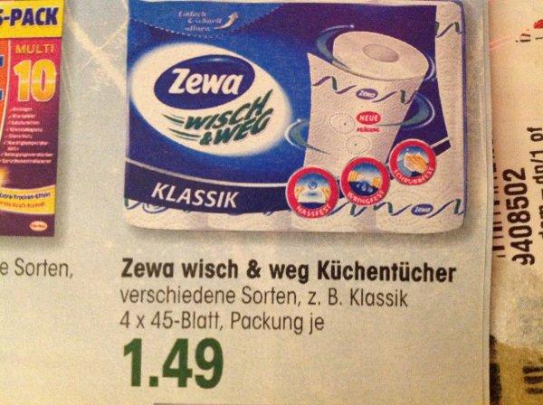 (Lokal - Edeka Süd/West) Zewa Wisch und Weg Küchenrollen für 0,99€ (Angebot + Coupon)