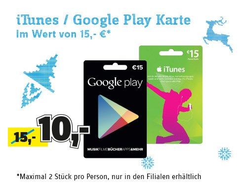 Google Play und iTunes Guthaben 33% reduziert