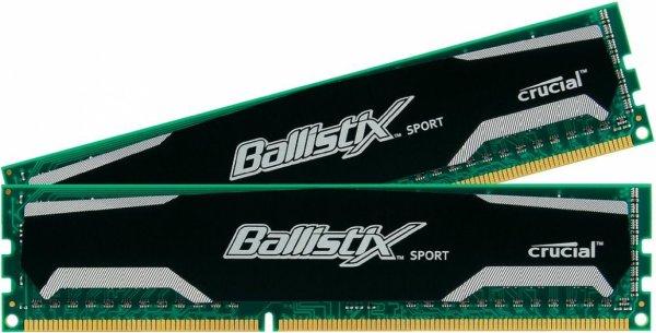 [digitalo.de] Crucial Ballistix Sport Arbeitsspeicher - DDR3-RAM, 8GB (2 x 4GB), 1600MHz, CL9, 1,5V, Dual Channel Kit