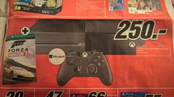 XBox One 500GB + Forza Horizon 2 - 250€ bzw. 210€ mit Gutscheinaktion Offline MM Pforzheim
