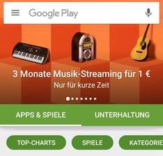 Google-Play-Musik 3 Monate für 1 Euro