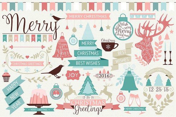 [Vector-EPS] Christmas Design Elements