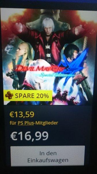 Devil May Cry 4 Special Edition PS4 für 16,99€ im PSN Store für PS+ Mitglieder sogar nur 13,59€