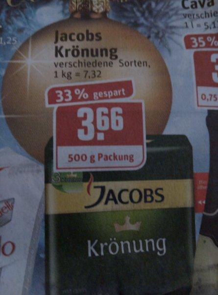 Jacobs Krönung bei Rewe 500g für 3,66€