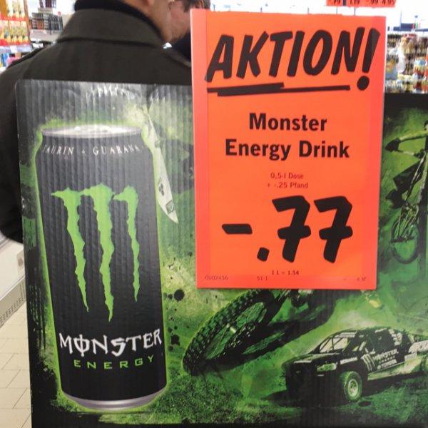 [LIDL] Monster Energy 0,5l - Verschiedene Sorten - 0,77€ + Pfand