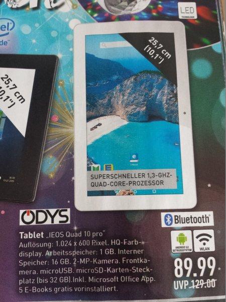 (Lokal Marktkauf) Odys Ieos Quad 10 Pro 25,7 cm (10,1 Zoll) Tablet-PC