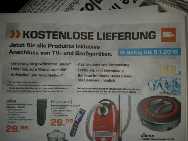 Lokal (?) Göttingen - kostenlose Lieferung aller Produkte inklusive Anschluss von TVs und Großgeräten bei Saturn bis 5.1.16