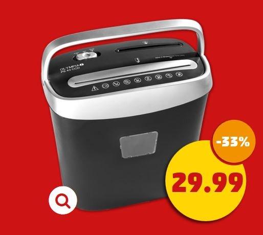 [Penny] OLYMPIA Aktenvernichter PS-43CCD für 29,99 €