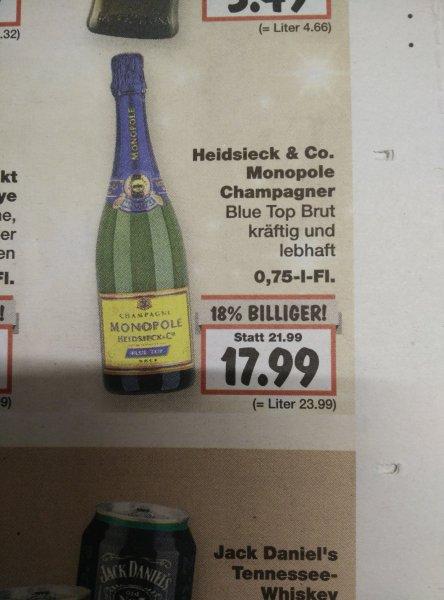 [Kaufland] Heidsieck Monopole Champagner 0,75 L für 17.99