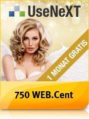 Webcent + UseNeXT =1500/750 webcent =15/7,5€ bestchoice Gutschein für 1 Monat Probetesten