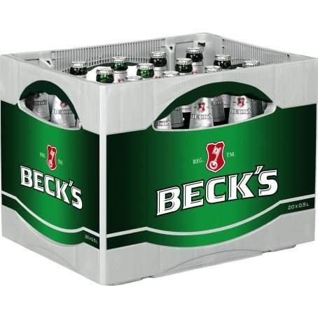 BECKS: 1 Kiste (versch. Sorten) 24x0,33 Liter ODER Pils, Gold, Alkoholfrei 20x0,5 Liter für je 9,99 € (+ Pfand) bei EDEKA vom 28.12. - 02.01.