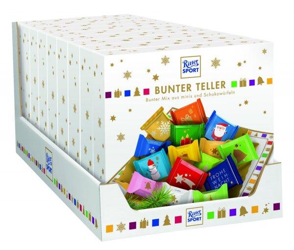 Schokolade bis 70% reduziert - z.B. Ritter Sport Bunter Teller, 9er Pack (9 x 205 g) für 10,23€ bei Amazon (Prime)