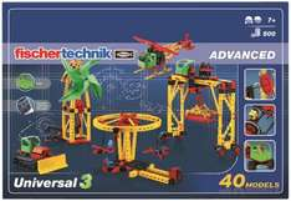 Fischertechnik Universal 3  40 Modelle 500 Teile  37,84 €       PVG Idealo 45,92 €