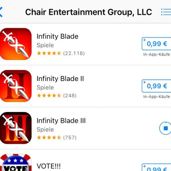 Infinity Blade Trilogie für 0,99€ pro Titel