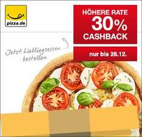 [Qipu] Pizza.de: 30% Cashback auf alle Bestellungen am 26.12.2015