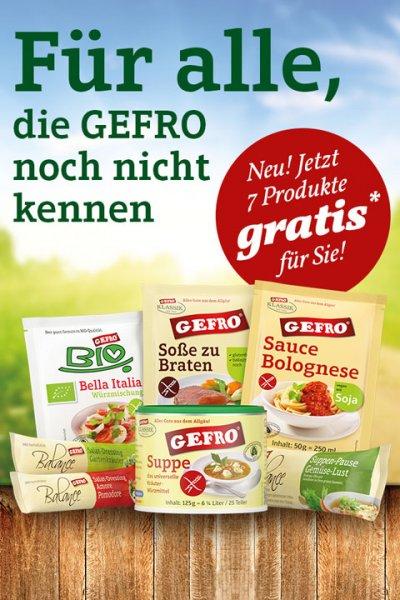 7 Gratisproben von GREFO kostenlos - nur für Neukunden