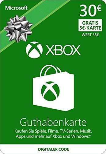 Xbox Live - 30 EUR Guthaben und 5 Euro Gratis