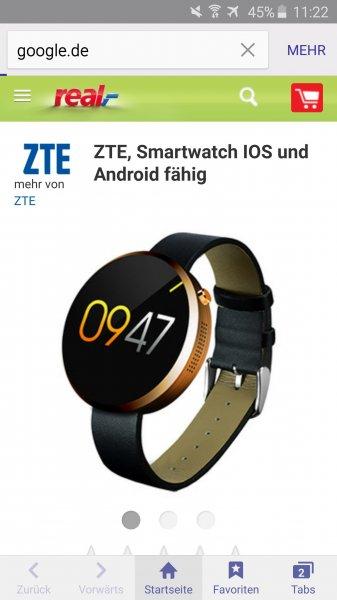 ZTE Smartwatch W01 Android/ios fähig @realonlineshop