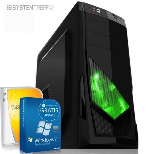 Komplett PC, AMD A8-7600 (4x3,9), 16GB RAM, 128GB SSD, 500GB HDD, Windows 7 Pro (Windows 10 Pro), Office 2010 Starter ~379,90€