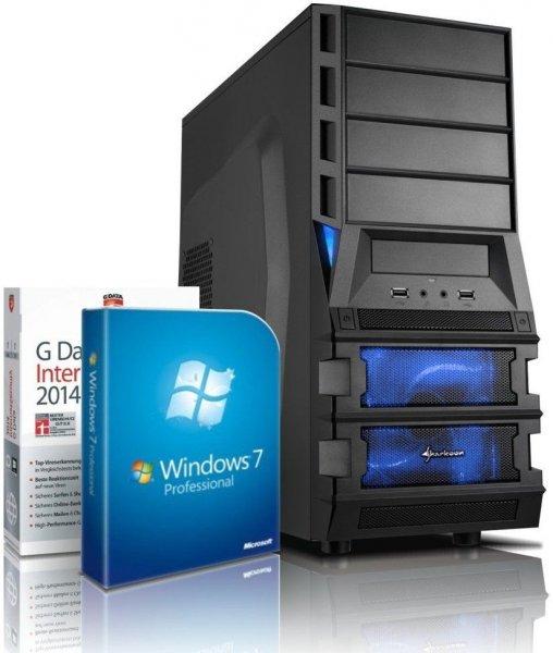 Budget Gaming-PC AMD Fx6300 (6x3,5Ghz), 8GB RAM, 2 TB HDD, Radeon R9-270X (2GB VRAM), Windows 7 Pro, Office 2010 Starter