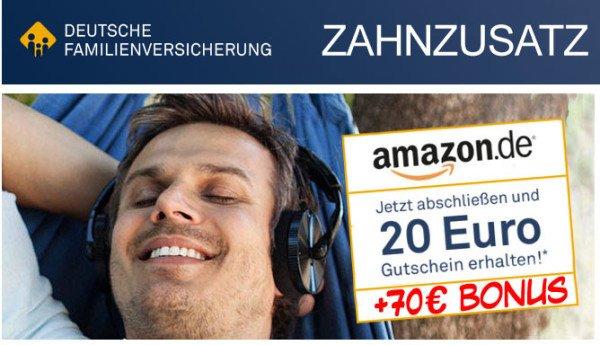 3 Monate Zahnzusatzversicherung mit Gewinn möglich durch 90€ Amazon Gutschein