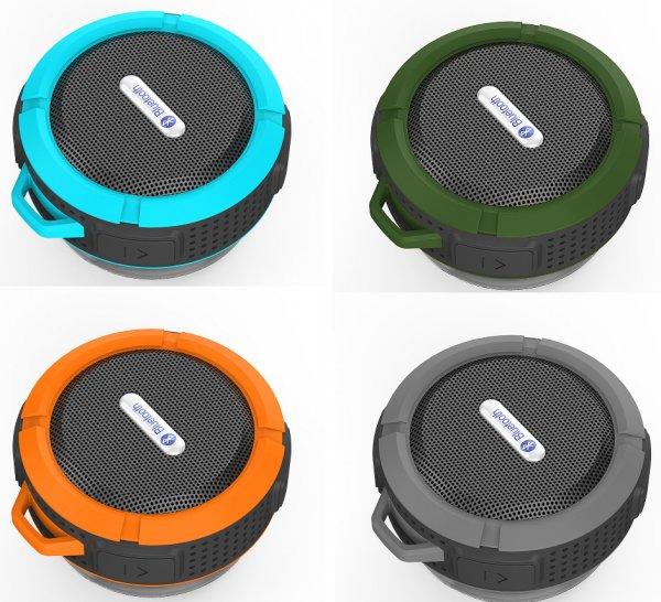 [amazon Prime] Patuoxun 5W IPX5 Bluetooth-Lautspr. mit Saugnapf in vier Farben für 16,09€ inkl. Vers.