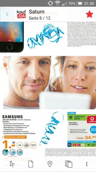 [Lokal Berlin?] Mobilcom Debitel D2 2GB allnet + Samsung Galaxy S6 Edge+ 32GB,  34.99€ mtl.