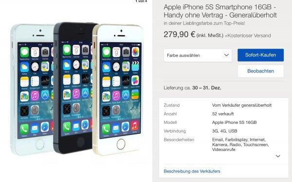 iPhone 5S refurbished