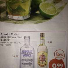 [tegut] Absolut Vodka 0,7l 9,99€
