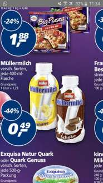 Müllermilch verschiedene Sorten @real