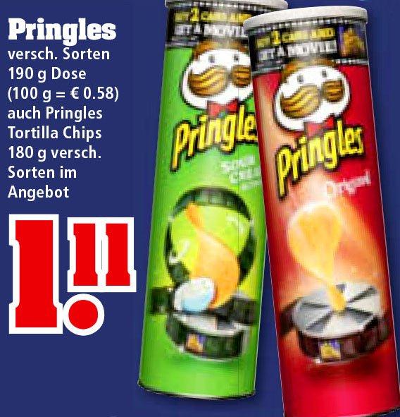 [trinkgut] Pringles und Pringles Tortilla Chips für nur 1,11 €