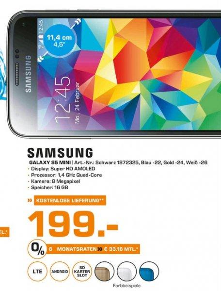(lokal) Samsung Galaxy S5 Mini für 199€ @ Saturn Berlin ,Potsdam,Karlsruhe