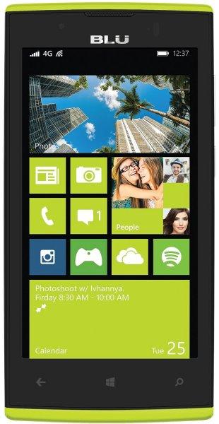 BLU Win JR LTE Smartphone (4,5 Zoll (11,4 cm) Touch-Display, 8 GB Speicher (erweiterbar) , Windows 8.1 gelb u.weiß für ca. 54 € (Bestpreis) > [amazon.uk] > Blitzangebot