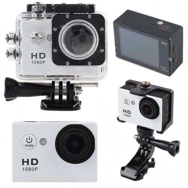 ACTION CAM SJ4000 Sport Kamera Helmkamera 12MP Wasserdicht bis 30m FULL HD 1080p Weiß für 18,19 € (GoPro ähnlich)
