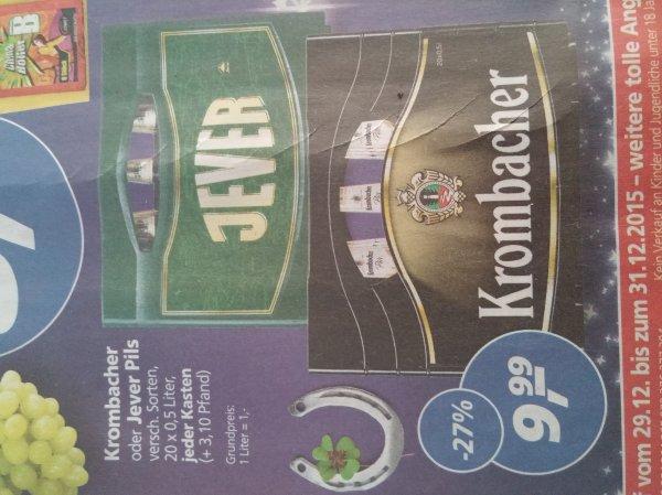 Krombacher oder Jever Pils 20x0.5Liter (real)