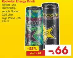 0.66€ Rockstar Energy Drink 250ml Netto ohne Hund