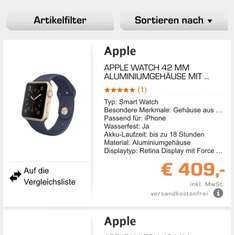 Apple Watch 42 mm bei Saturn für 409€