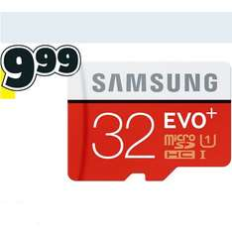 [CONRAD] Samsung microSDHC-Karte EVO Plus 32GB für nur 9,99€ und die 64GB für nur 19,99€