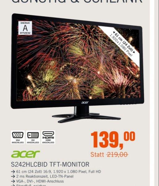 Cyberport - Acer S242HLC Monitor für 134€