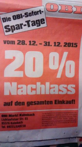 [Lokal] Obi Kulmbach 20% Rabatt auf den gesamten Einkauf