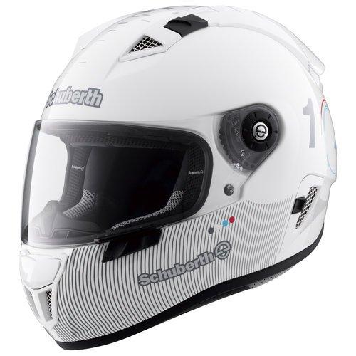 Schuberth SR1 Technology Glossy White bei Motorradecke