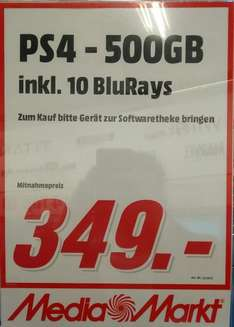 [lokal?!] PlayStation 4 500 GB + 10 BluRays