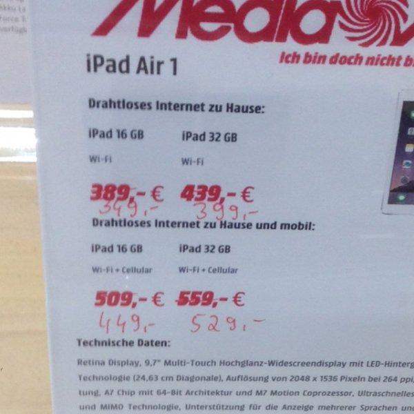 [Mediamarkt Dortmund Oespel] iPad Air 1 32GB Wi-Fi