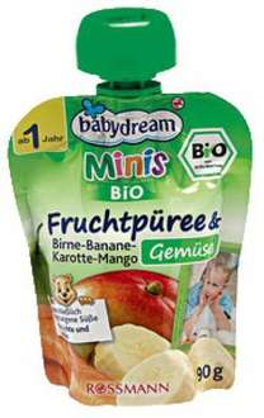 [Rossmann] Babydream Minis Fruchtpüree/Quetschies für 0,35 €/Stück mit Coupon