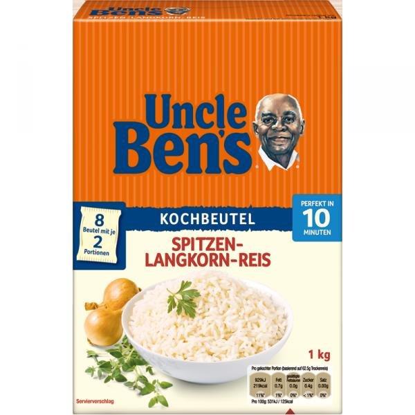 [Amazon Prime]  UncleBen's Spitzen-Langkorn-Reis 10-MinutenKochbeutel 12x 1000g